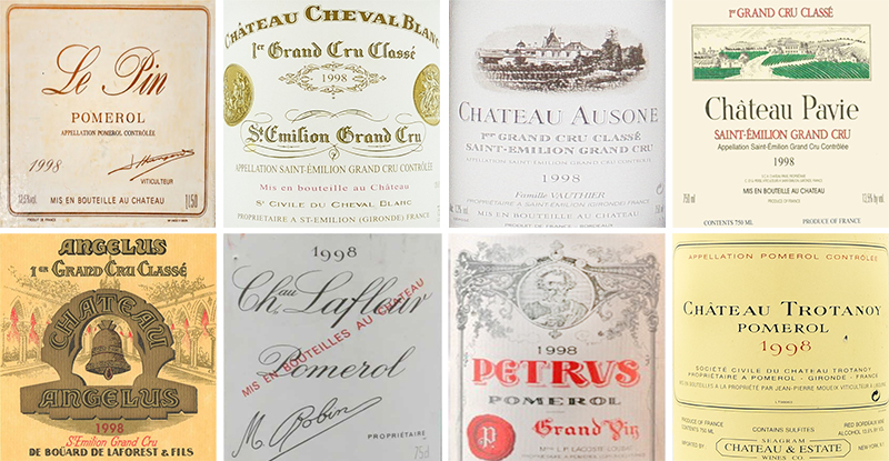 20 Years On – 1998 Right Bank Bordeaux's Best Dinner, very limited seats