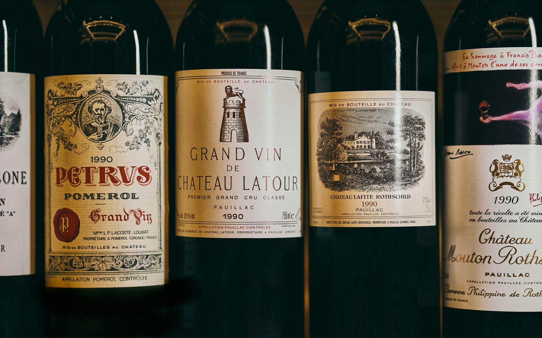 1990 Bordeaux Dinner Left Bank v Right Bank
