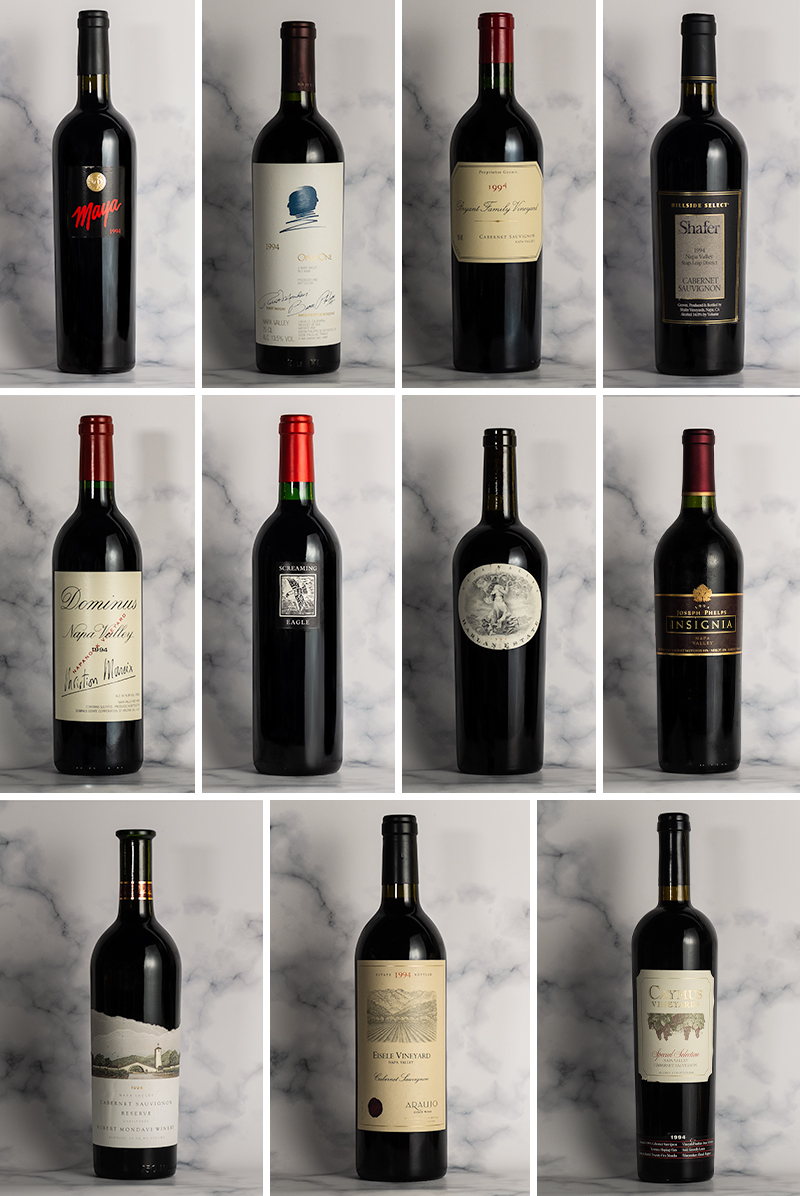 1994 Napa Cabernets - 25 Years On Dinners (Singapore)