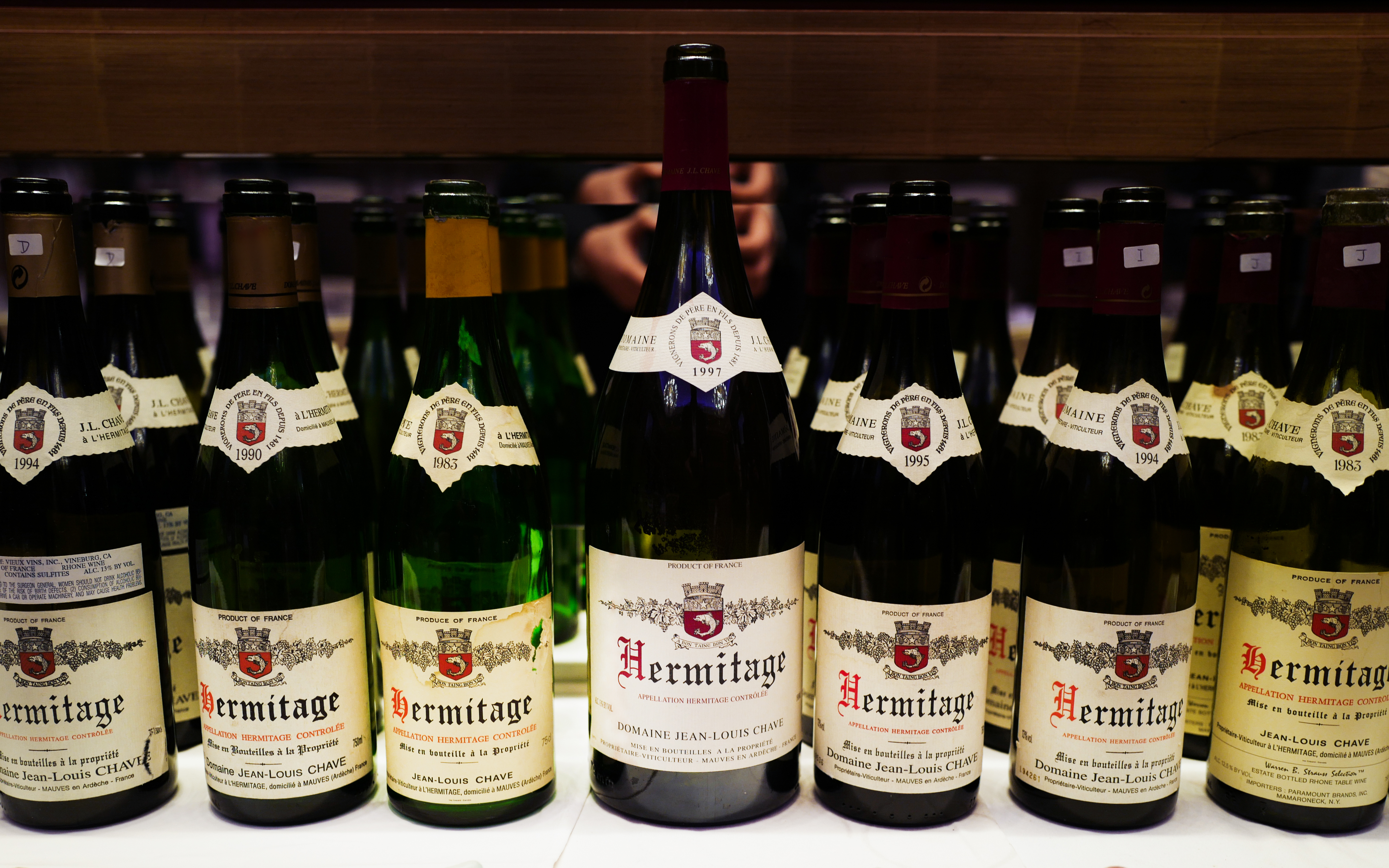 Domaine J-L Chave Hermitage Dinner in Singapore: Mature Vintages Back to the 1970s
