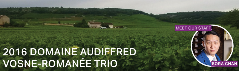 Fine Wine Friday: Domaine Audiffred Vosne-Romanée Trio