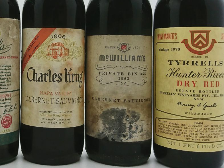 Mature California and Australian wines from the cellar of John Avery